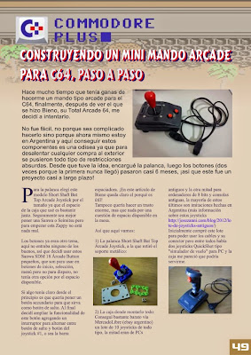 RetroWiki Magazine #10 Construyendo un minimando arcade paso a paso