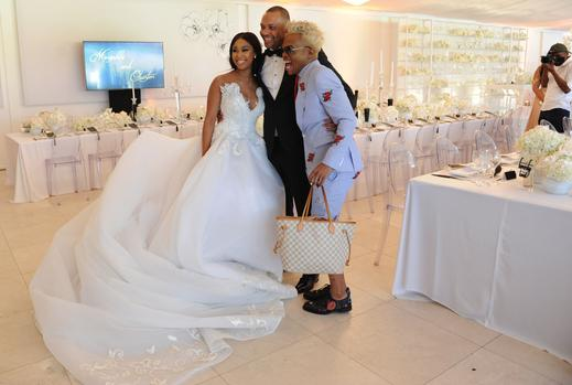 South African TV Personality Minnie Dlamini weds her TV producer fiance, Quinton Jones (photos)