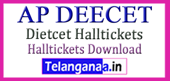 Andhra Pradesh DEECET Hall Tickets Dietcet Hall tickets Download