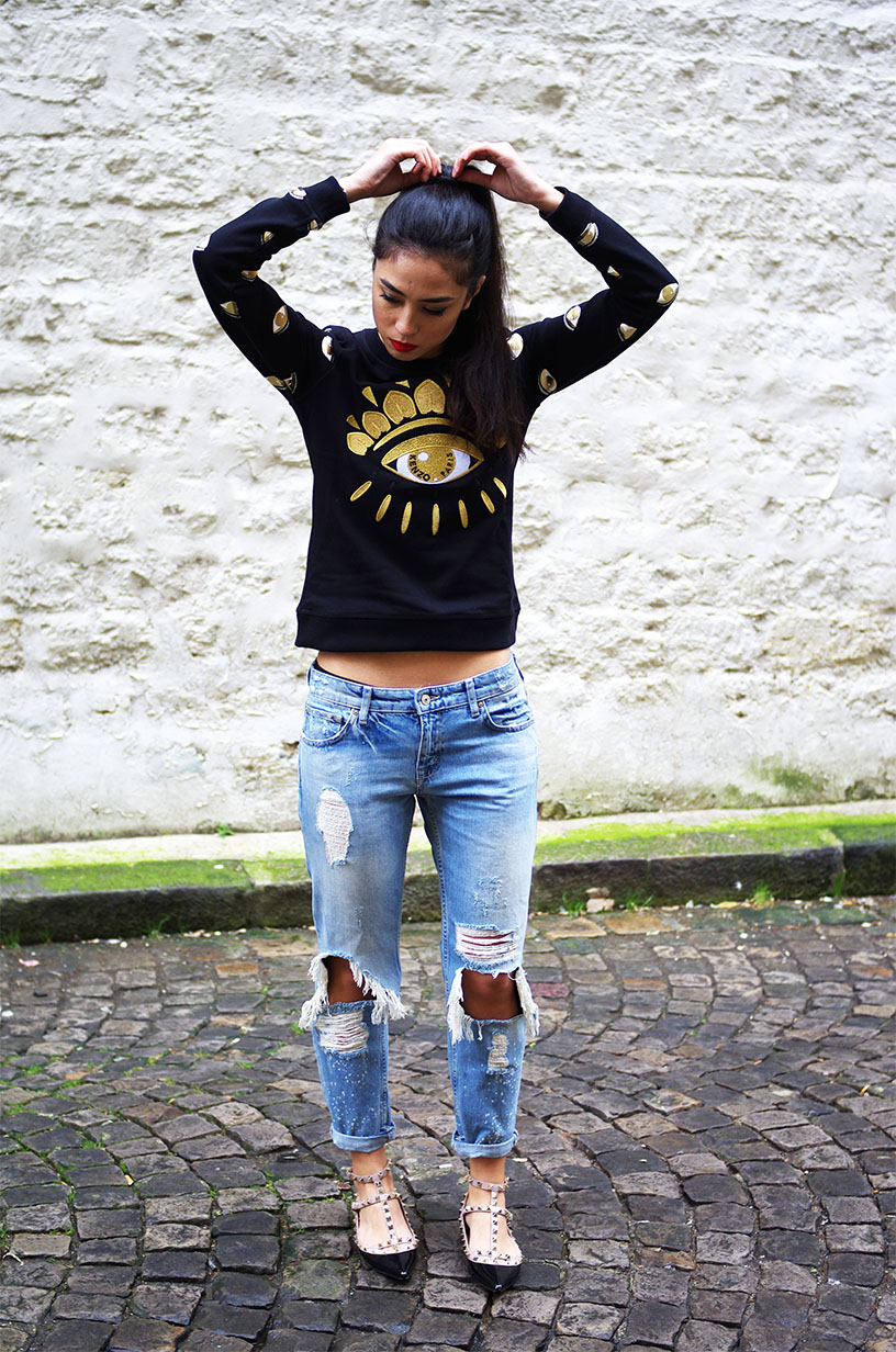 Elizabeth l All eyes on me Kenzo eye sweater l THEDEETSONE l http://thedeetsone.blogspot.fr