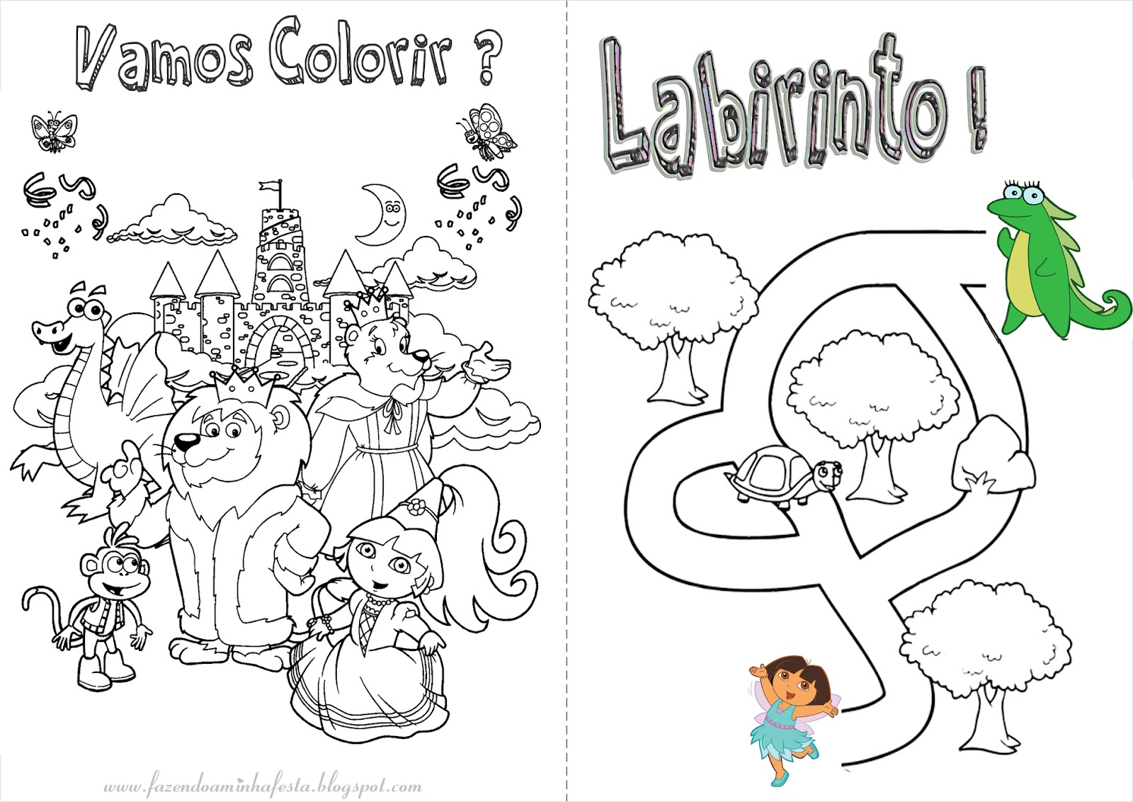Colorir: Dora Aventureira