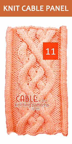 Knitted Cable Panel Pattern 11, its FREE