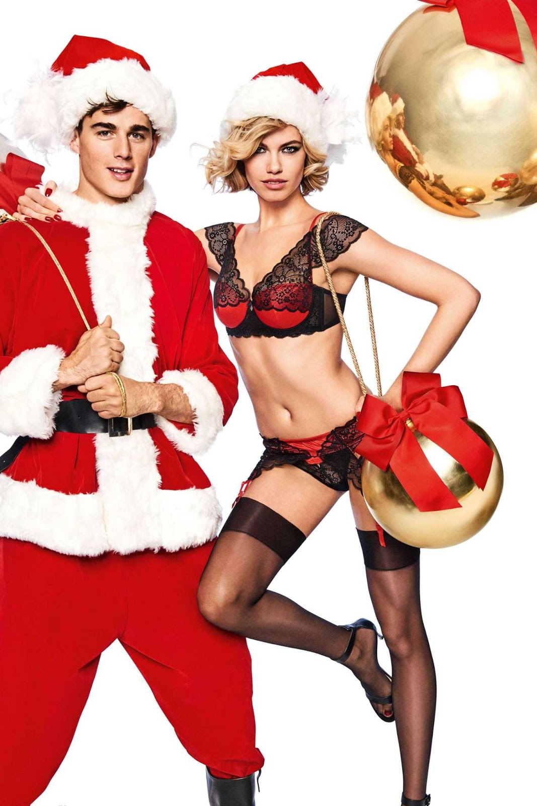Yamamay Christmas 2017 Collection starring Hailey Clauson