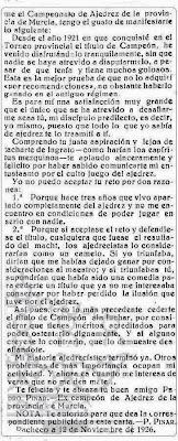 Carta de Pedro Pinar a Salvador Mollá, La Verdad, noviembre de 1926 (2)