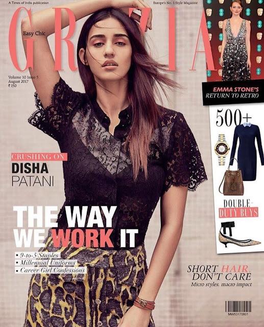 Disha Patani On Grazia India Magazine Latest Issue