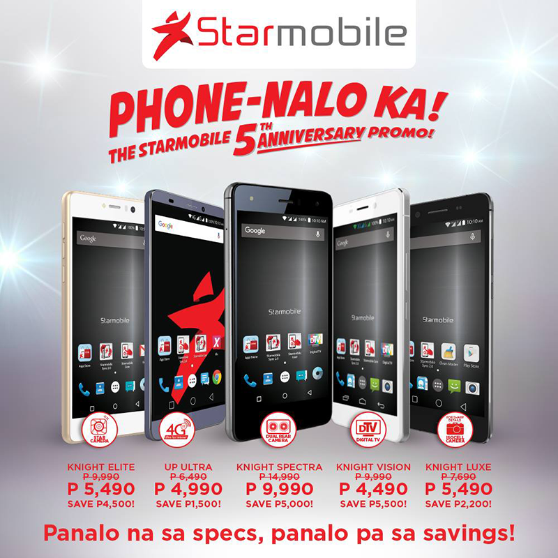 Starmobile 5th Year Anniversary Sale Announced, Get As Much As 5.5K Pesos Off!