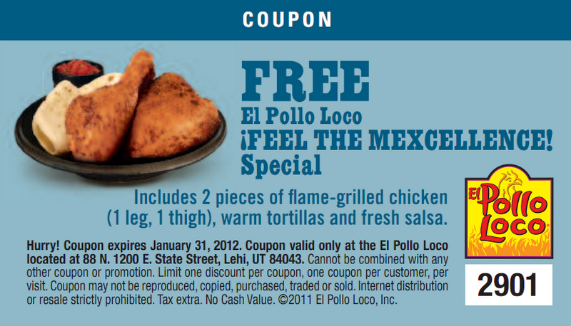 If you're crazy about Mexican-style chicken, you'll love El Pollo Loco promo conbihaulase.cf Offers · Credit Cards · Seniors Discount · Stay Connected.