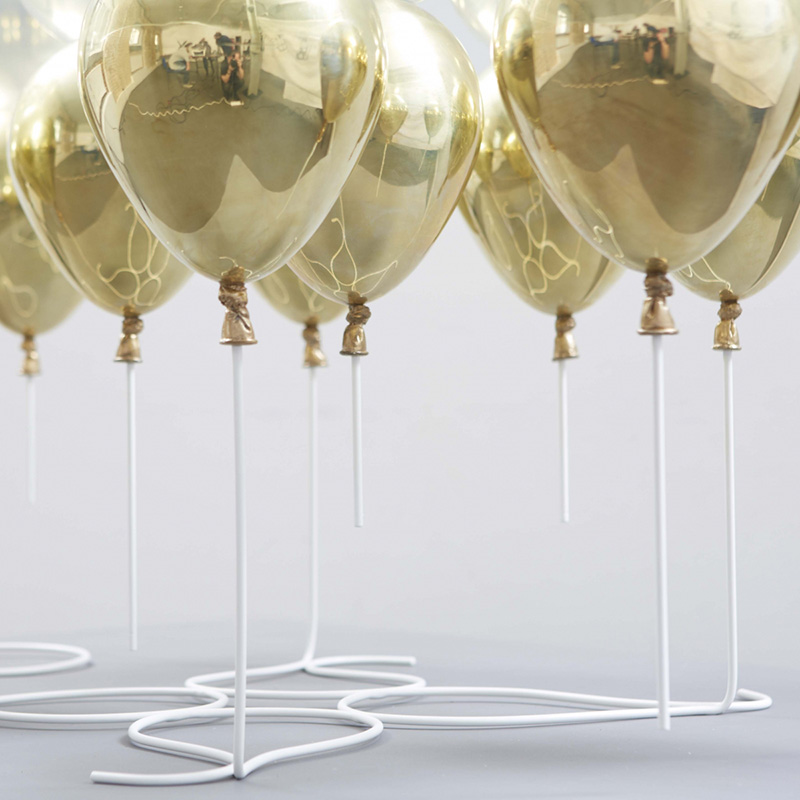 Champagne Gold Glass Table Lamp
