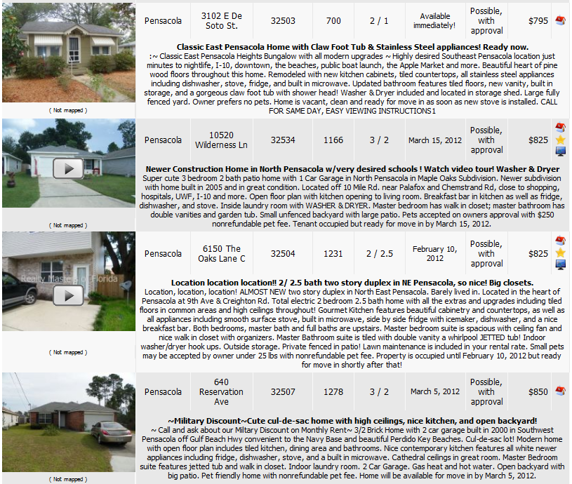 Website For Houses For Rent: Love To Live In Pensacola, Florida~: Pensacola Rental