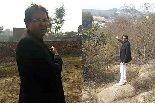 advocate-ln-parashar-reach-aravali-to-see-illegal-construction-news