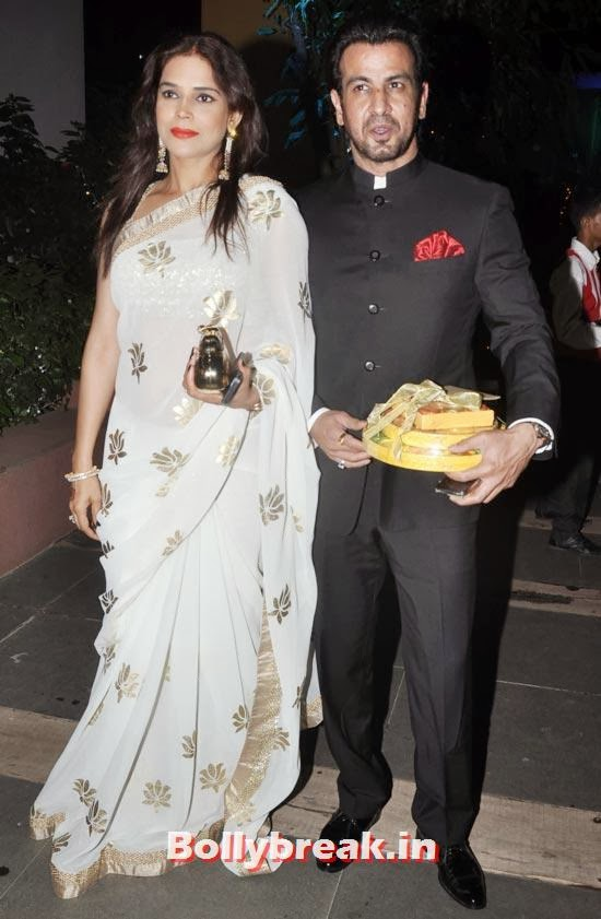 Ronit Roy and Neelam, Sachiin Joshi and Urvashi Sharma's Diwali Party