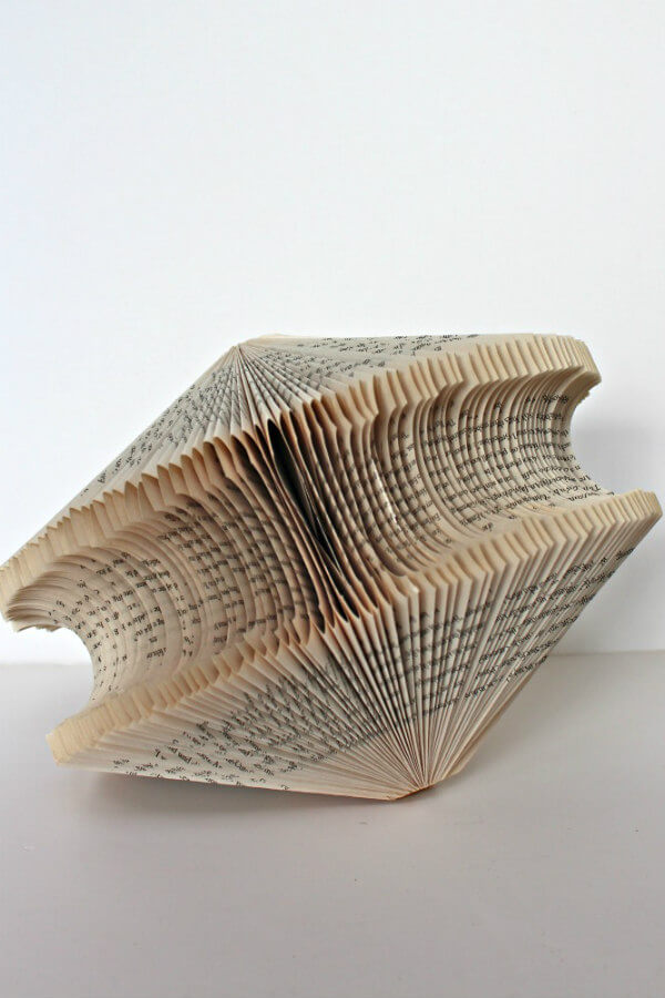 one folded book home decoration
