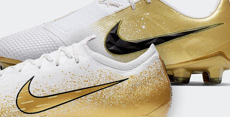 outlet store 73ac9 2540e White / Gold Nike Euphoria Mode 'Champagne Gold' Boots Pack ...