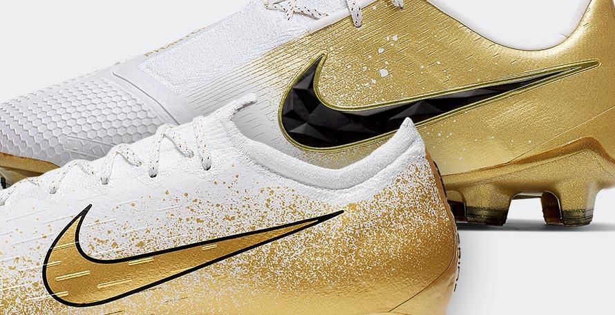 3ef26b00d White / Gold Nike Euphoria Mode 'Champagne Gold' Boots Pack Unveiled -  Mercurial Vapor + Phantom Venom
