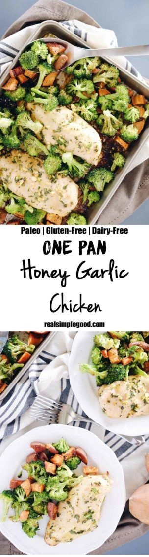 One Pan Honey Garlic Chicken