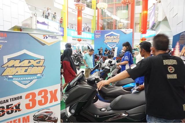 Acara yamaha di Palembang Trade Centre