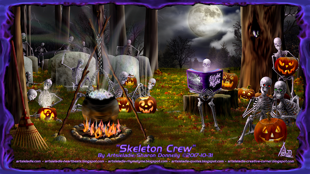 Halloween art by/copyrighted to Artsieladie