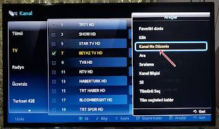 Samsung Smart Led TV Kanallar Taşıma Silme Ayarı Nasıl Yapılır + Resimlı anlatim