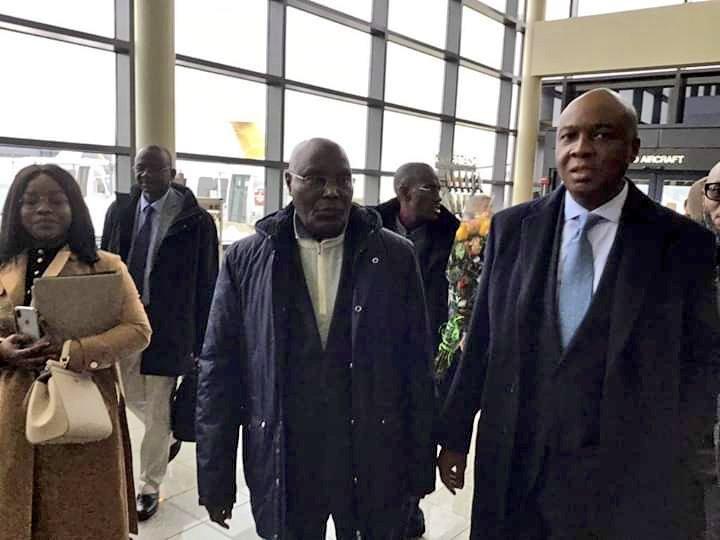 #AtikuinAmerica: Nigerians reacts as Atiku finally gets to US after 12years ban