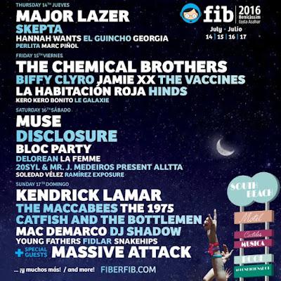FIB, 2016, Festival, Benicassim, Música, Directo, Cartel
