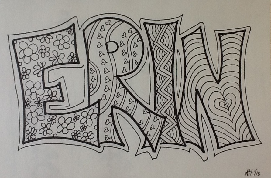 Name Drawings: On My Mind: DOODLE DAY MAY