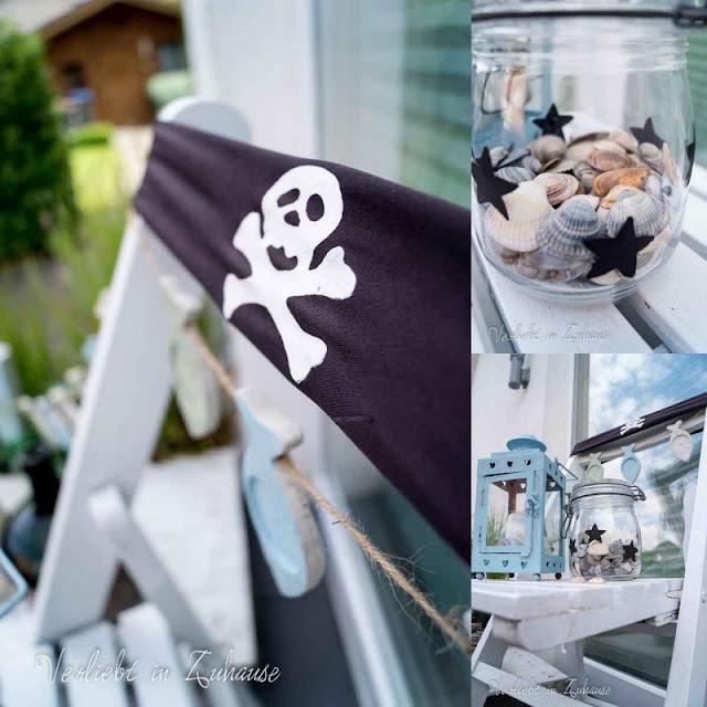 Collage mit Ideen und Inspiration: Maritime Haustürdekoration