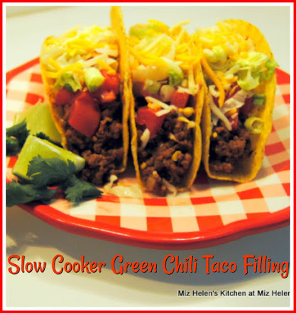Slow Cooker Green Chili Taco Filling