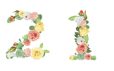 A floral number 21
