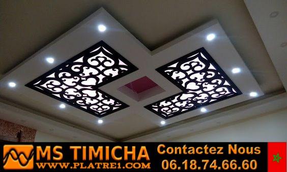 meilleurs modèles de faux plafond de plaques de plâtre avec éclairage