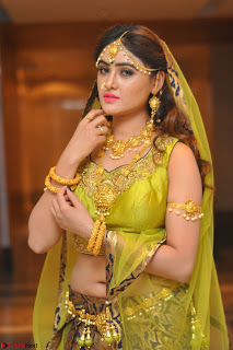 Sony Charishta in Green Choli Ghagra Transparent Chunni Ethnic Wear March 2017 072.JPG
