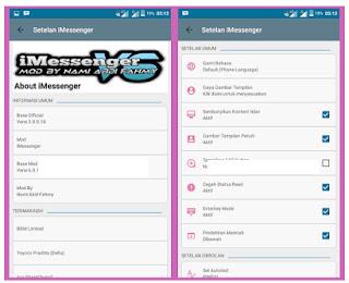 BBM Mod iMessenger V6 Blue Theme V3.0.1.25 apk Full DP