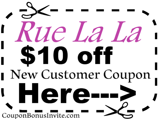 $10 off Rue La La New Customer Coupon Code 2018 Jan, Feb, March, April, May, June