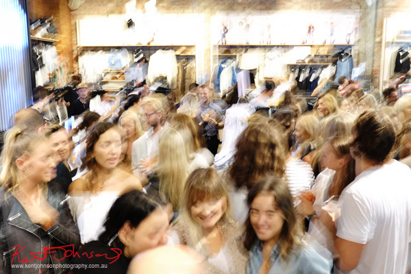 Fashion crowd at the P.E. Nation Launch Party, General Pants, Bondi Junction.