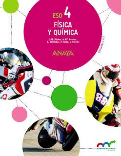 Libro Física y Química 4º ESO Anaya Proyecto Aprender es Crecer