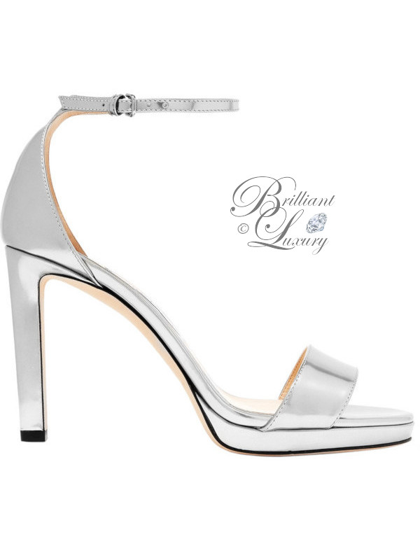 Brilliant Luxury ♦ Jimmy Choo Misty metallic leather sandals