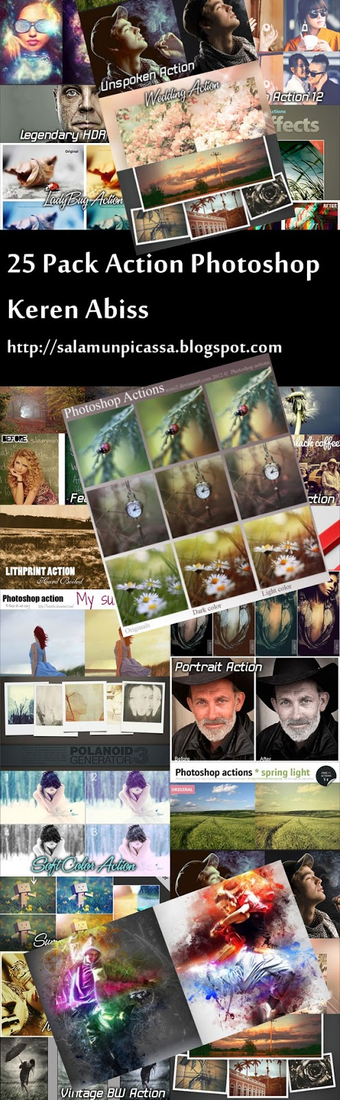 25 Pack Action Photoshop Keren Abiss