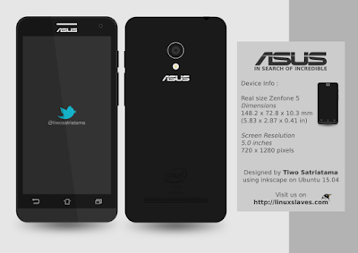 Download ASUS Zenfone 5 Mokcup SVG