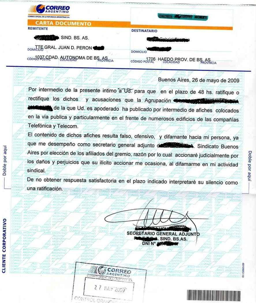 Carta De Renuncia Correo Argentino Quotes About Y