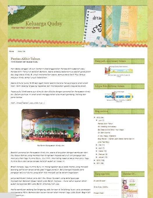 Review Blog Keluarga Qudsy