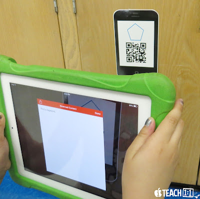 2D Shapes QR Code Scavenger Hunt