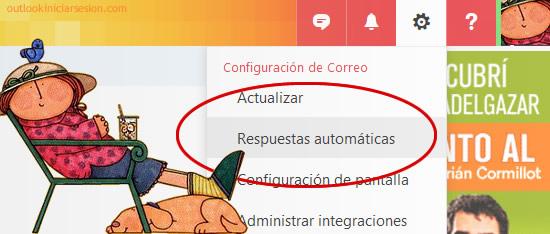 respuestas automáticas en tu cuenta de Outlook.com