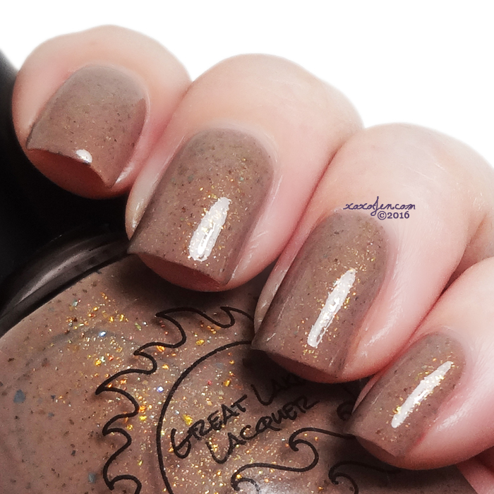xoxoJen's swatch of Great Lakes Lacquer Coffee Is Necessary