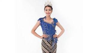 Foto Baju Kebaya Putri Indonesia 2016 Kezia Roslin Model Indah Wanita Indonesia