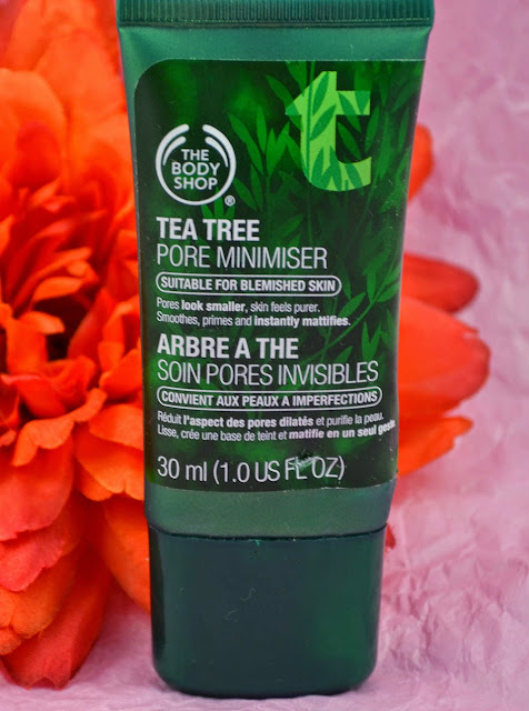 The Body Shop - Tea Tree - Pore minimiser - Facial Skin - skincare - Primer - Review - swatches - mattifying