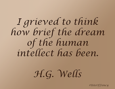 A short summary and review of the book The Time Machine by H.G. Wells with a quote and questions to ponder
