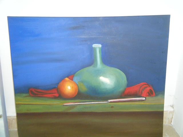 Les peintures de mes élèves à l'expo 5