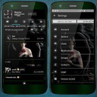 BBM Mod Terbaru Full Version Black Angel Transparan Theme v3.2.0.6 Apk