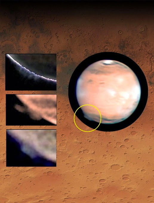 Mysterious bursts are visible on Mars in 2012