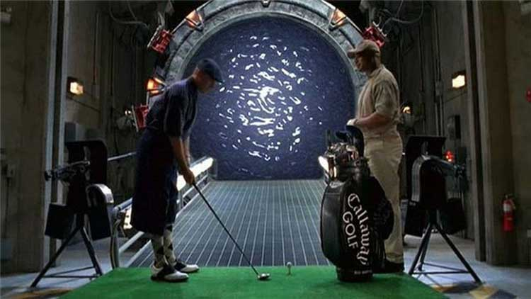 O'Neill and Teal'c are stuck in a time loop in Stargate SG-1's Window of Opportunity.