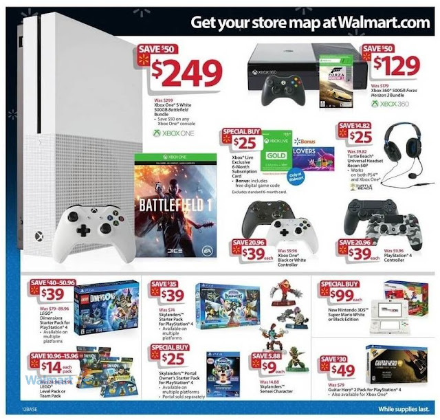 Games Playstation 4 Controller, Xbox One Bundle Black Friday Deals at Walmart
